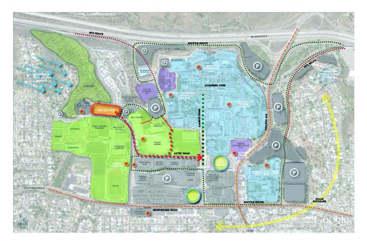 SDSU West Campus Housing Masterplan   landLAB